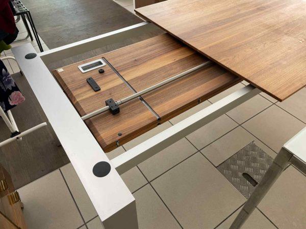 Ausziehbarer Designer Esstisch mit Holzplatte 243 cm